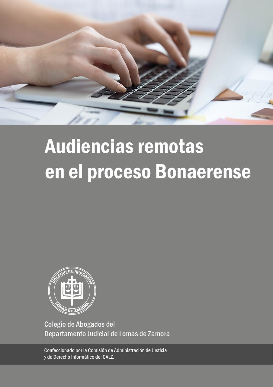 "Instructivo ""Audiencias Remotas en el Proceso Bonaerense"""