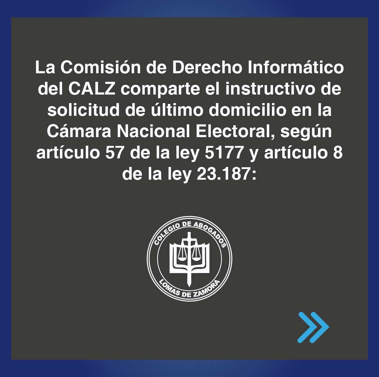 Instructivo de solicitud de último domicilio